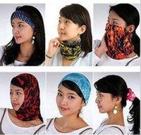 Promoción nuevo Bandanas inconsútil bufanda multifuncional sombreros pelo banda hombres mujeres al aire libre Ciclismo muñeca cabeza turbante bufanda sombrero 23 * 49 cm M1873
