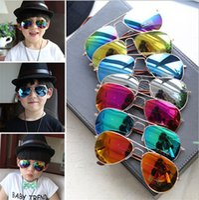 aviator sunglasses children - HOT Kids Sunglass Children Beach Supplies UV protective eyewear baby sunglasses for boys Girls sunshades kids aviator D093