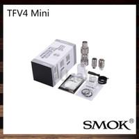 Mejores tanques sub ohm Baratos-Smok TFV4 mini atomizador Smoktech 3,5 ml TFV4 Mini Sub ohmios tanque solo tanque TFV4 Mini Kit completo Mejor coincidencia X 75W Cubo original del 100%