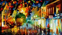 attraction for sale - oil Painting Leonid Afremov art for sale night attraction Canvas Hand painted High quality