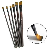 airbrush tips - 2015 New set Brown Tip Nylon Paint Brushes For Art Artist Supplies