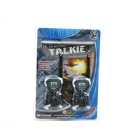 Wholesale educational Toy Walkie Talkies Mini Superman Headset Style M Interphone with Microphone Kid s Toy Gift HT434