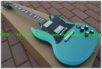 Cheap Wholesale - Newest High Quality light Blue burst SG Electric Guitar Best Selling Musical instruments HOT