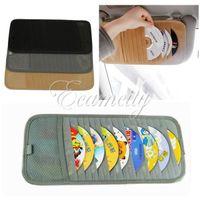 Wholesale Non woven material Disk CD DVD Holder Auto Car Sun Visor Holder Storage Organizer Cover Case Organizer Wallet Clip Truck SUV