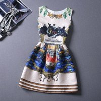 best choice printing - 23 Style Choice Girls Best Sale Summer Dresses New Fashion European and American Style Floral Printing Vest Lady New Dress OXL072301