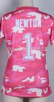 camo football jerseys - Factory Outlet Cam Newton Pink Camo Women Football Jersey Embroidery and Sewing Accept Mix Order