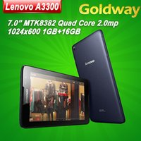 Wholesale Original quot Lenovo A3300 Phone Call Tablet PC GB RAM GB ROM MTK8382 Quad Core x600 WIFI Bluetooth GPS Android Tablets