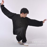 Wholesale and retail of heavy cotton and martial arts practice tai chi clothing costumes and black men and women