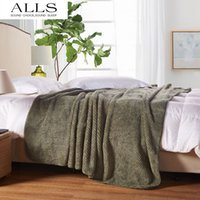 Wholesale Japanese style blanket on bed sofa brown ArmyGreen bed cover blankets for spring summer autumn pled na krovat pokryvalo na divan