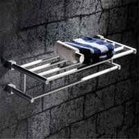Wholesale Marble Bathroom Accessories Towel Rack Holder Hotel Home Bathroom Storage Rack Rail Shelf Space Aluminum Hanger length cm