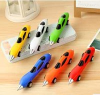 Wholesale 11 Color Car pen plastic blue refill children s Day gifts automobile ball point pen students prize pen cm Creative toy car pen