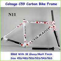 Wholesale Factory Price Italian Col nago C59 Carbon Bike Frame Top Class With Bottom BB68 K Finish Glossy Matte Finish Raod Racing Bike Parts