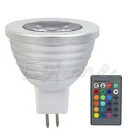 Wholesale 3W Energy Saving MR16 RGB Color Changing LED Bulb Lamp With Key IR Remote