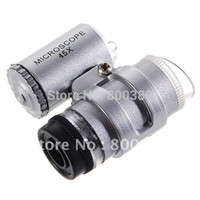 Wholesale Mini X Jeweler Loupe Magnifying Glass Microscope with LED Lamp