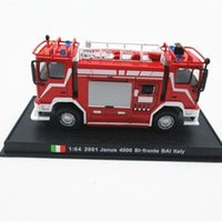 Wholesale 2016 Fashion Cute AMER COM Italy Double Ended Fire Truck Model Mini Alloy Car Model Toy
