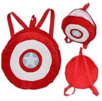Wholesale 5 The Avengers Captain America Shield Shoulder Bag Flag Travel Bags Boys Girls Lovely School Backpack