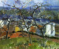 Oil Painting andre derain art - Landscape Art Painting Landscape near Chatou by Andre Derain High Quality Hand painted