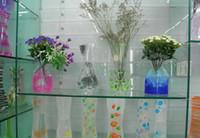 Wholesale Folding Foldable Plastic PVC Flower Vase Home Decoration Mix Various Patterns and Styles