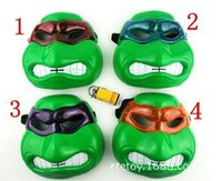 Wholesale 30pcs Models Hot LED Ninja Turtles Mask Newest Film Mask Ninja Turtles Flashing Mask Realistic Teenage Mutant Ninja Turtles Mask