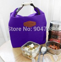 Wholesale 1pcs Lunch Tote Polyester Waterproof fabrics Aluminum insulation texture Thermal Insulated Cooler Storage Picnic Pouch Bag