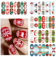 Wholesale Manicure luminous Full sticker Christmas series Snow Santa Claus festival nail stickers Gift stickers nail decoration