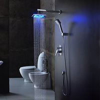 shower mixer - Luxury In wall Led Bathroom Shower Faucet Mixer Taps