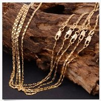 Wholesale Cute Women inch K Yellow GOLD filled Rolo Fashion Chain Necklace For Sale