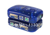 Wholesale 50pcs PS2 automatically KVM switch in out X1 By FedEx