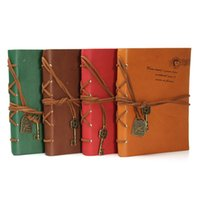 Wholesale New Retro Vintage PU Leather Cover Bound Blank Pages String Diary Notebook Journal Notepad