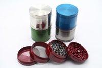 diseños de la mezcla de hierba amoladora fumar amoladora tamaño CNC rectificadora cnc metal tabaco amoladora 52mm 4 piezas dentadas