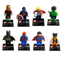 Wholesale The Avengers Super Heroes Building Blocks Iron Man Captain America Hulk Batman Wolverine Thor Building Blocks Sets Toys Without Package Box