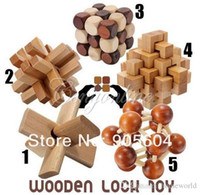 Wholesale New Funny Chinese Traditional Wooden Educational Toys for Adult Children Intelligence Education Puzzle Lock Kids baby wood Toys