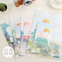 beautiful envelope - sets set envelopes writing papers new arrival creative beautiful countryside envelope letter paper styles