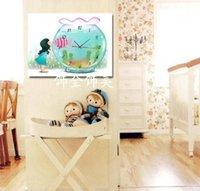 aquarium mural - Aquarium style Chinese style painting decorative painting frame painting murals modern living room sofa background painting pri