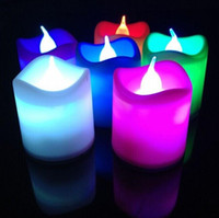Wholesale Colorful LED Electronic Candle Lamp For Birthday Halloween Christmas Wedding Party Decoration Ornament New Arrival