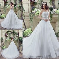 crystal drops - 2016 Arabic Plus Size Sweetheart Wedding Dresses Lace Cheap Vintage Backless Maternity Wedding Ball Gowns Beaded Sash Long Bridal Gowns