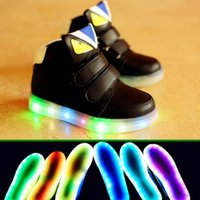 child boots - Children Shoes first walker LED Pu Glitters tenis Girls Boys boots For Little baby Kids sneaker Luminous Glowing With Light