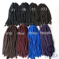 Wholesale Kanekalon Twist Braids Hair Soft Dread Lock Twist Hair Synthetic Hair Extension quot bundles g Colors