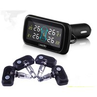 car system - TPMS Wireless Tire Pressure Monitoring System Car Tire Monitor Pressure Auto Tyre Pressure with Sensors LCD Display