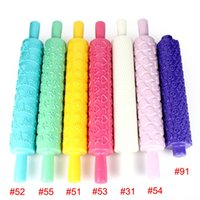 Cheap Christmas Kitchen Tools Rolling Pin Fondant Cake Sugarcraft Embossed Decorating Mold Gum Paste Tools