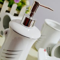 Wholesale Swan Five piece fashion sanitary equipment Shower Kits personality toothbrush holder two Cups