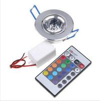 bathroom discounts - AC85V V Discount LED Off Road Lights W RGB LED Down Light LED Ceiling Light RGB Remote Control