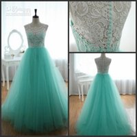 light up products - 2015 Graduation Dresses Actual Product High Collar Light Sky Blue White Lace and Tulle Puffy Long Prom Dresses Formal Gown Online Shopping