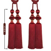 Wholesale 2015 Home Decoration Multicolor curtain tassel hanging ball bandage fashion a pair colors