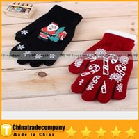 Wholesale Hot Sale Crochet Gloves Special Decoration Gloves Knitting Christmas Santa Claus Gloves Acrylic Gloves