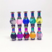 acrylic rainbow glasses - new rainbow Acrylic Hybrid Ming Vase Drip Tips rich color mouthpiece for Nova UDCT Glass Protank E cigarette atomizer
