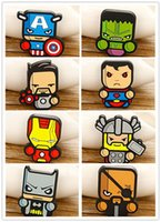 badge safety pins - The Avengers Cartoon Brooches Pins Superheroes Q version Colorful silicone Children badge iron Man Superman brooch Safety pins Fashion gifts