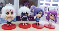 Wholesale 4pcs Tokyo Ghoul Kaneki Ken Touka Kirishima Rei Rize Q Version PVC Action Figure Loss Package