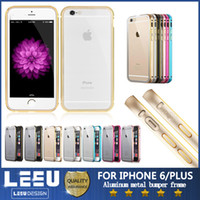 aluminum frame - For iphone6 inch Aluminum metal bumper frame case with Clear Back cover Backplane for iphone G plus