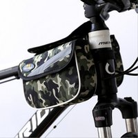beam sizes - Double Oack On The Bike Tube Bag Shockproof Waterproof MTB Front Beam Bag Bicycle Bag Polyster Bicycle Bag Foldable